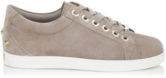 Jimmy Choo CASH/F Opal Grey Velvet Suede Low Top Trainers
