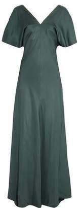 Nina Ricci Chain-Embellished Silk-Twill Gown