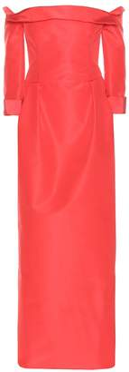 Carolina Herrera Off-the-shoulder silk dress