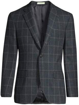 Boglioli Tartan Wool, Silk & Linen Single-Breasted Jacket