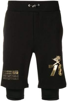 Plein Sport 'unstopable' cuffed shorts