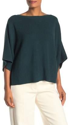 Eileen Fisher Bateau 3/4 Sleeve Wool Sweater
