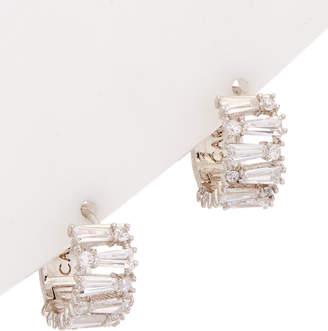 Carolee Pearl Premier Cz Huggie Earrings