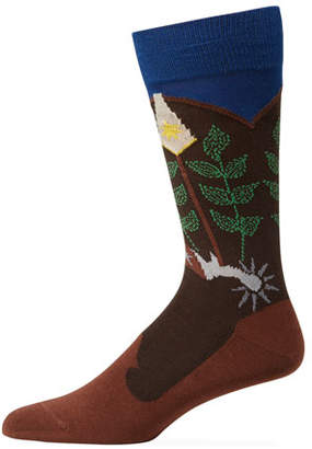 Paul Smith Men's Cowboy Spurs Socks