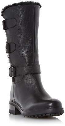 Dune LADIES ROBBY - Faux Fur Lined Leather Buckle Boot