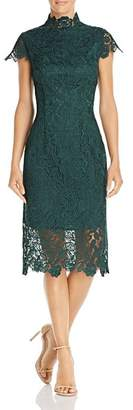 Laundry by Shelli Segal Embroidered Lace Illusion Dress