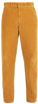 Gucci Straight Leg Cotton Corduroy Trousers - Mens - Yellow
