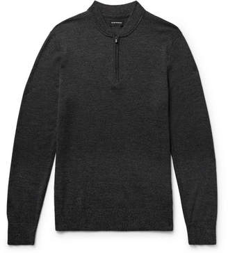 Club Monaco Slim-Fit Mélange Merino Wool Half-Zip Sweater