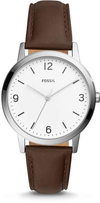 Fossil Blake Three-Hand Brown Leather Watch