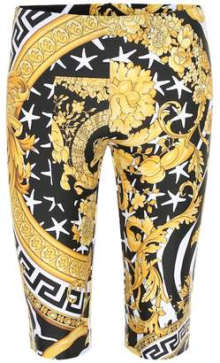 Versace Printed stretch-jersey shorts
