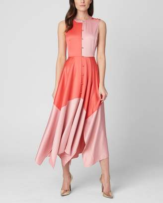 Juicy Couture Colorblock Soft Satin Midi Dress