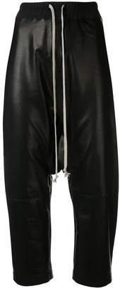 Rick Owens cropped leather trousers