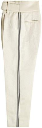 Petar Petrov Hoa High-Waisted Pants with Silk and Linen