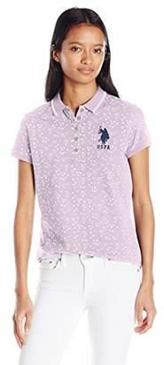 U.S. Polo Assn. Junior's All Over Print Stretch Pique Polo Shirt