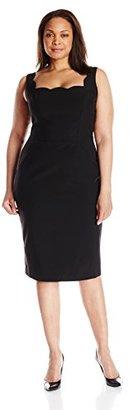 Single Dress Women's Plus Size Scallop Neck $32.28 thestylecure.com