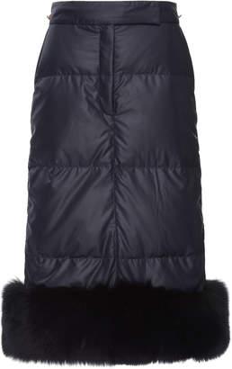 Thom Browne Fur Trimmed Puffer Midi Skirt