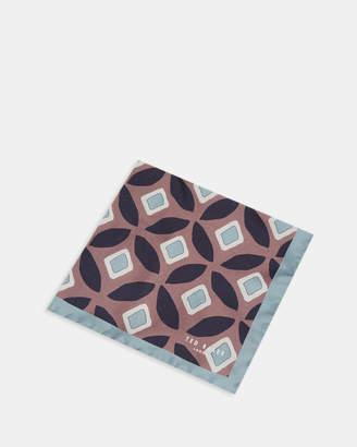 Ted Baker HERNE Split geo silk pocket square