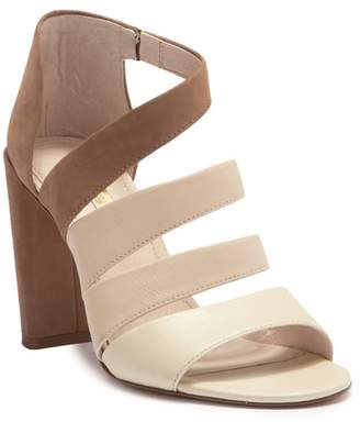 Louise et Cie Kainey Leather and Suede Block Heel Sandal