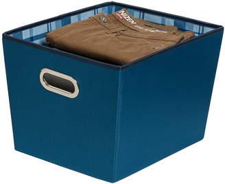 Honey-Can-Do Set of 2 Medium Storage Bins, Blue