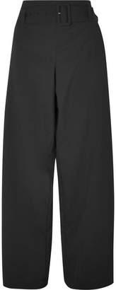 REJINA PYO Ava Belted Wool-blend Pants - Black