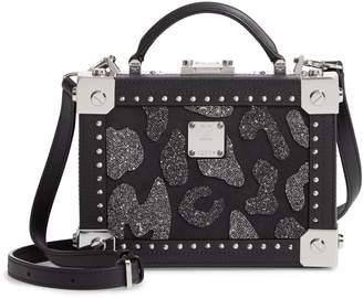 MCM Berlin Leopard Spot Crystal Leather Crossbody Bag