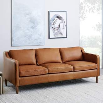 "west elm Hamilton Leather Sofa (81"")"