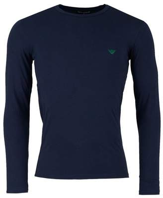 Emporio Armani Embroidered Eagle Long Sleeved T-shirt