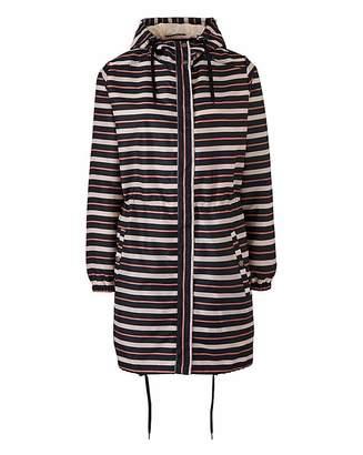 Fashion World Petite Stripe Pac A Mac Parka