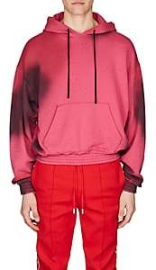 Off-White Men's Cotton French Terry Hoodie-Pink