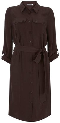 Mint Velvet Chocolate Utility Shirt Dress
