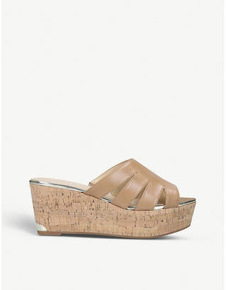 Nine West Victoria leather wedge sandals