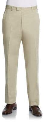 Valentino Flat-Front Cotton Classic-Fit Pants