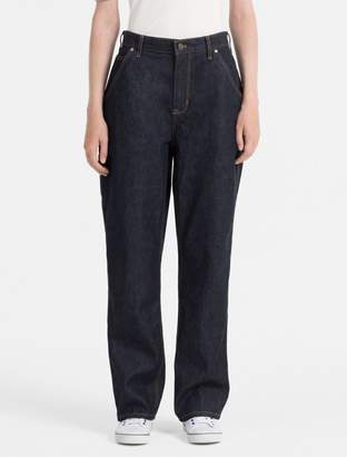 Calvin Klein straight fit dark indigo carpenter jeans