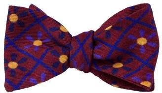 40 Colori - Wine Propeller Wool & Silk Butterfly Bow Tie