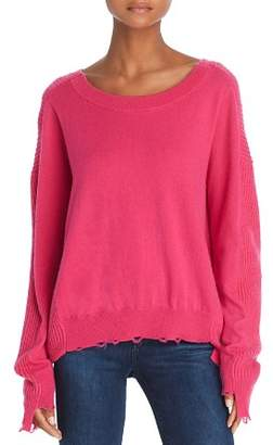 Splendid Ballet-Neck Distressed Sweater