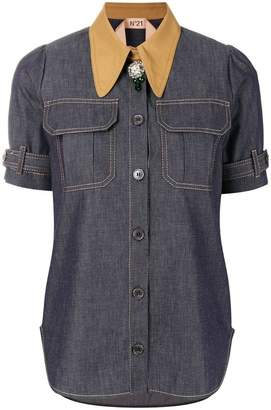 No.21 short sleeve denim shirt