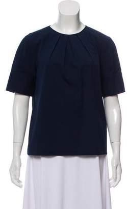Michael Kors Gathered Short Sleeve Top