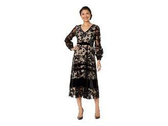 Taylor Long Sleeve Velvet Maxi Dress