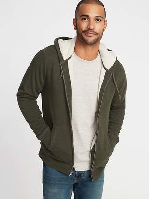 Old Navy Sherpa-Lined Zip Hoodie for Men