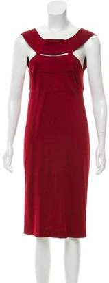 Bottega Veneta Cutout-Accented Midi Dress