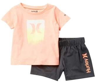 Hurley Dri-FIT Logo T-Shirt & Shorts Set (Baby Boys)