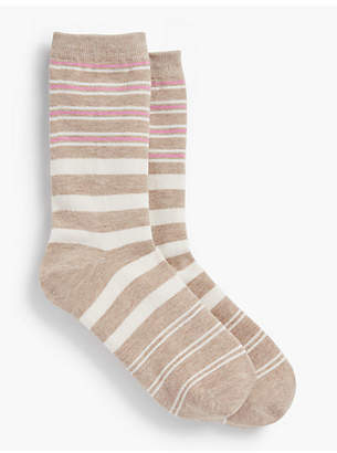 Talbots Variegated Stripe Trouser Sock