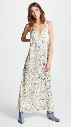 R 13 Long Silk Slip Dress