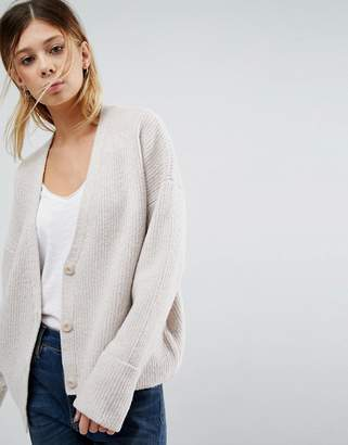 Asos DESIGN Chunky Cardigan with Button Front