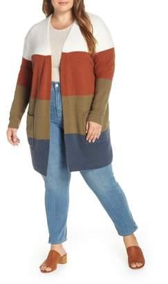 Madewell Kent Colorblock Long Cardigan