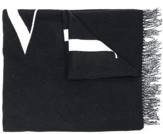 Valentino logo pattern wide scarf