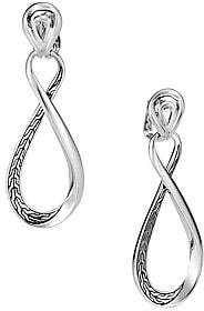 John Hardy Women's Chain Silver Hoop Drop Earrings