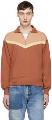 Levi's Clothing Orange Colorblock Zip-Up Sweater