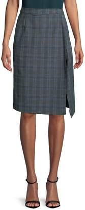 Vetements Women's Plaid Pencil Skirt - Grey Check, Size xs [x-small]