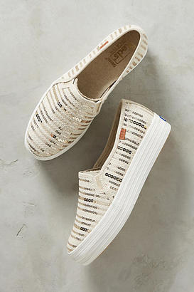 Keds Sequined Stripe Sneakers $58 thestylecure.com
